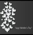 Love pattern heart banner vector