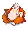 Asian monk vector