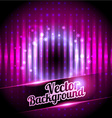 Disco background with place for your text vector
