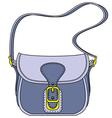 Blue ladies handbag vector