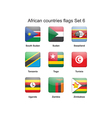 African countries flags set 6 vector