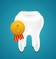 Medal for the cleanest tooth vector