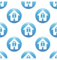 Locked house sign pattern vector