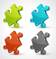 Puzzle icons vector