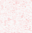 Doodle seamless love pattern vector