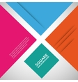 Large colored boxes with blank space for text vector