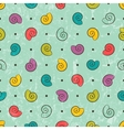 Seamless texture with colored shells vector