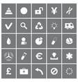 Universal flat icons set 3 vector