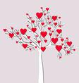 Love tree card vector