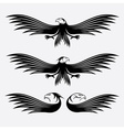 Eagles set design template vector