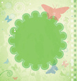 Vintage summer frame with butterflies and vector