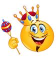 King emoticon vector