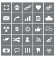 Universal flat icons set 4 vector