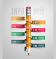 Creative template with pencil ribbon vector