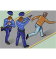 Isometric policeman and robber vector