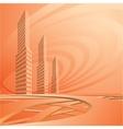 City landscape is in light tones vector