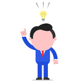 Businessman with idea vector