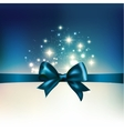 Abstract christmas light background with ribbon vector