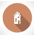 Two-storey house icon vector