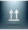 Fragile symbol arrow up logistic icon vector