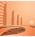 City landscape is in light tones vector