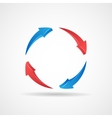 Cycle update symbol 3d abstract arrows icon design vector