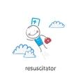 Resuscitator flies to the patient vector
