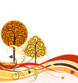 Op with swirly trees vector vector