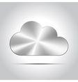 Metal cloud icon vector