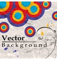 Grunge background with circles vector