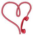 Phone receiver heart vector