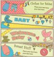 Baby banners vector