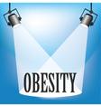 Spotlight obesity vector