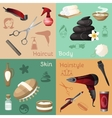 Beauty salon set vector