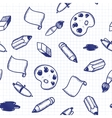 Doodle tools seamless pattern vector