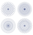 Set of guilloche rosettes vector