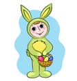 Easter rabbit child vector