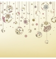 Retro christmas ornaments eps 8 vector