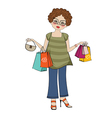 Woman at shopping vector