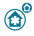 Hospital simple single color icon isolated on vector