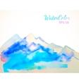 Watercolor mountain background vector