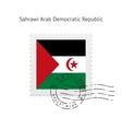 Sahrawi arab democratic republic flag postage vector