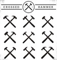 Crossed hammer vector