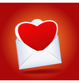 Heart and envelope vector