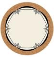 Elegance round frame vector
