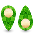 Eco friendly wooden icon for web design vector