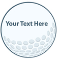 Golf ball sign vector