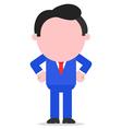 Businessman hands akimbo vector