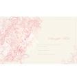 Elegant vintage floral frame card vector