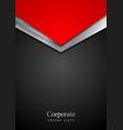 Dark silver and red tech arrows design vector